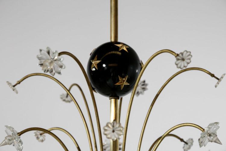 lustre italien design italien des années 50 etoilé 36
