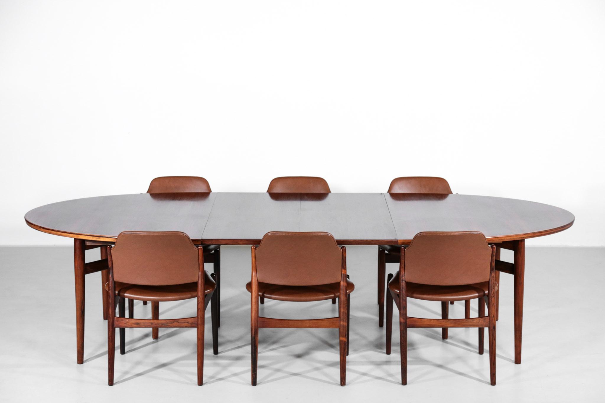 Arne Vodder Dining Room Set Model 212 Scandinavian Design