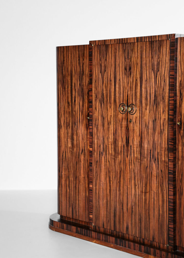 Armoire art deco palissandre ebene macassar vintage design28