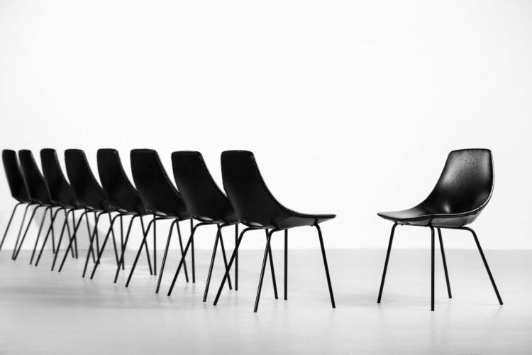 16 chaises tonneau pierre guariche steiner chair35