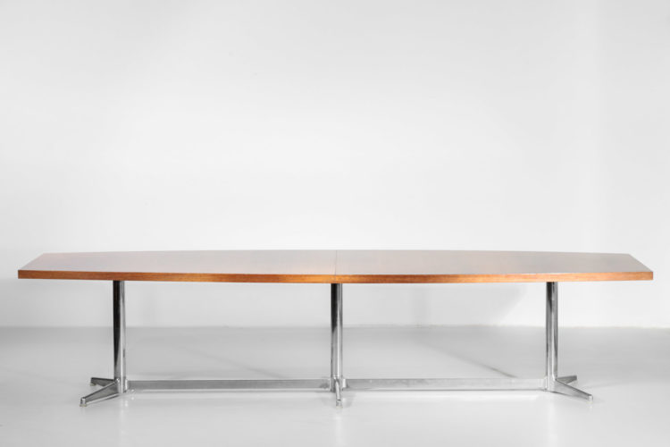 Grande table à manger gianfranco Piretti vintage années 70 1