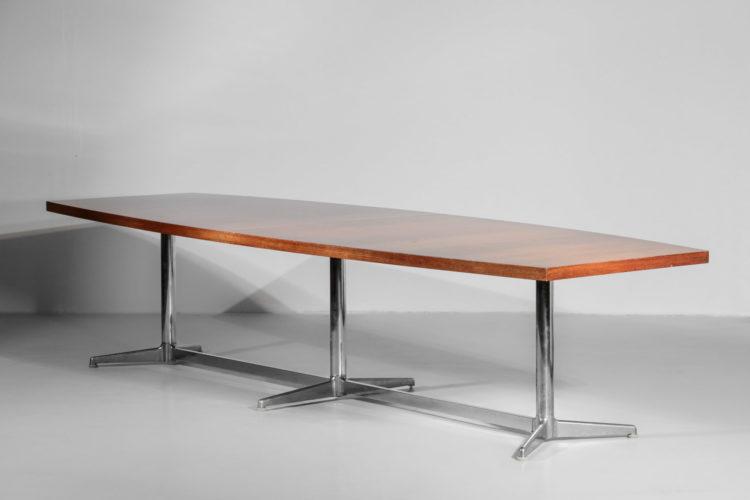Grande table à manger gianfranco Piretti vintage années 70 3