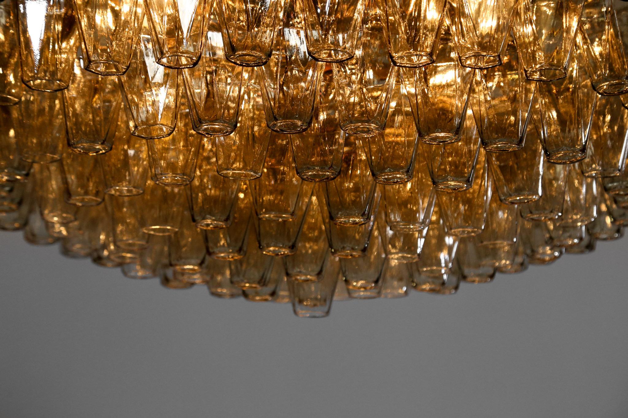 Large Italian Chandelier Or Flush Mount Murano Glass Danke Galerie