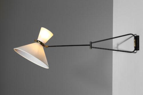 applique potence lunel vintage design années 60 lampeapplique potence lunel vintage design années 60 lampe