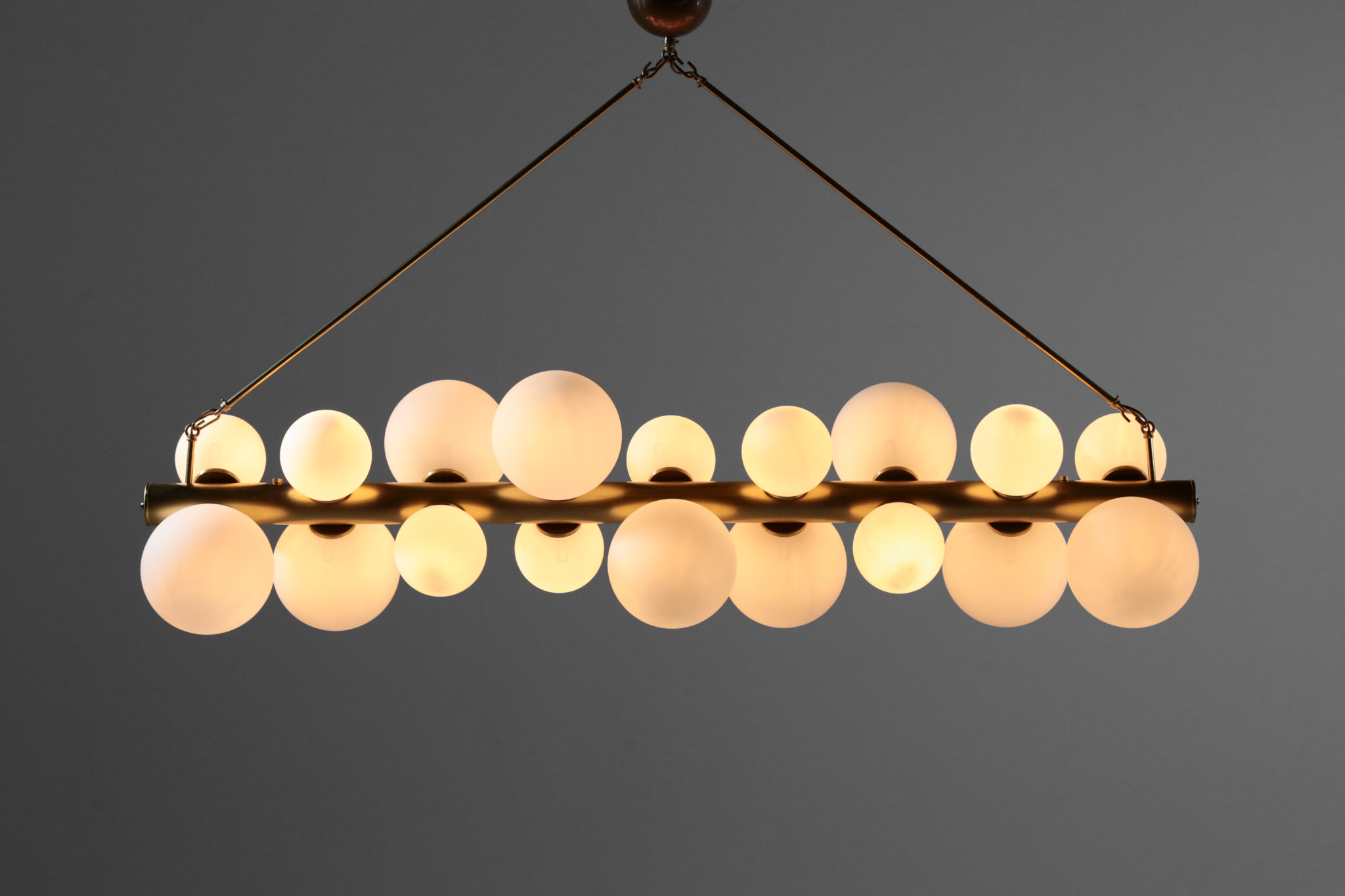 Large Italian Chandelier 18 Lights Opaline Gles Danke