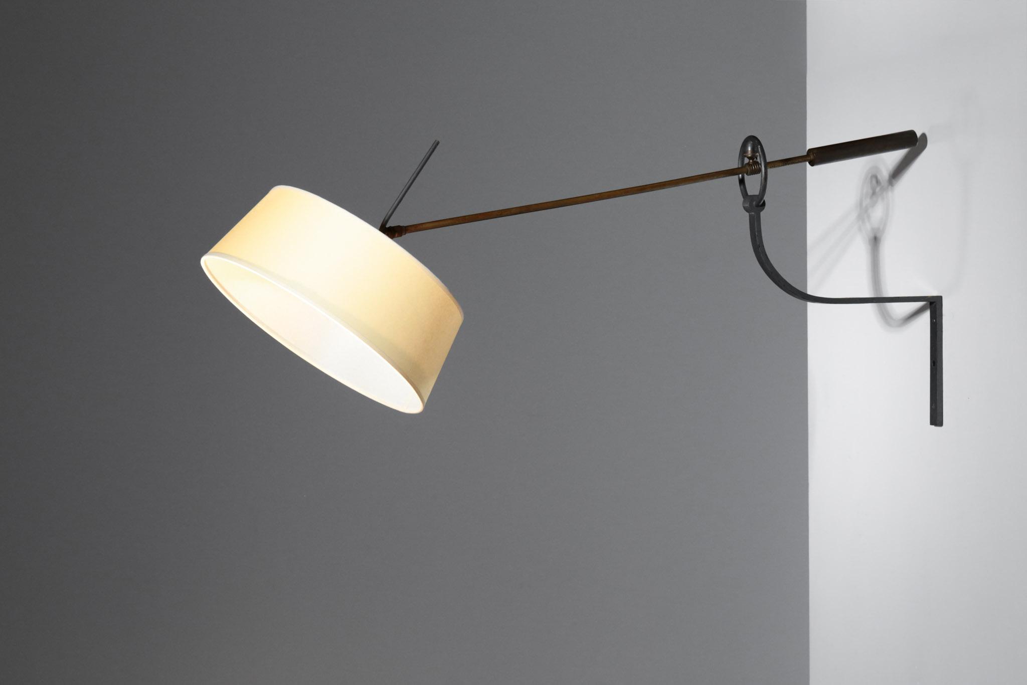 Large counter balance wall lamp attributed to arlus france u2013 danke