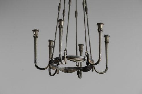 Lustre art deco moderniste années 30 en bronze30