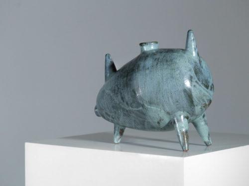 grande ceramique Francaise moderniste zoomorphe