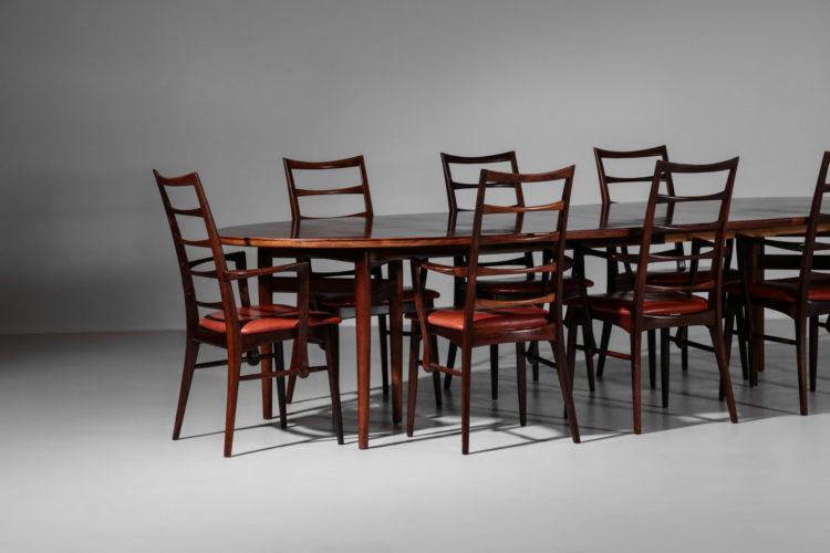 table arne vodder chaise Koefoed Larsen palissandre de rio danois27