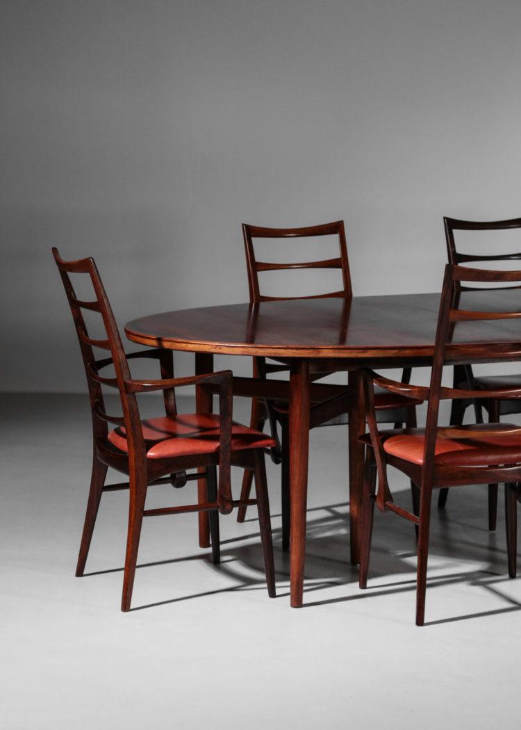 table arne vodder chaise Koefoed Larsen palissandre de rio danois28