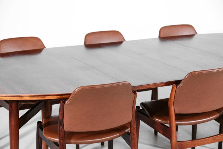 table et chaises arne vodder danoise scandinave palissandre de rio 32table et chaises arne vodder danoise scandinave palissandre de rio 32