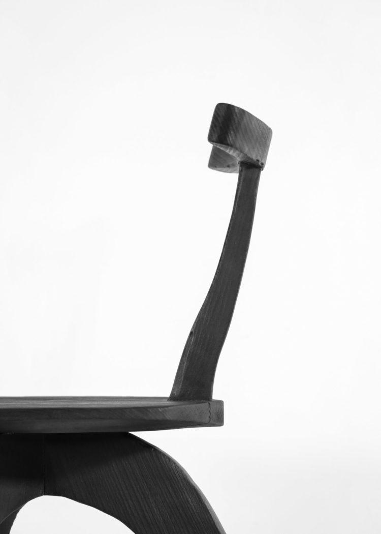 Chaise vincent vincent danke galerie chaise ebeniste bois brulé