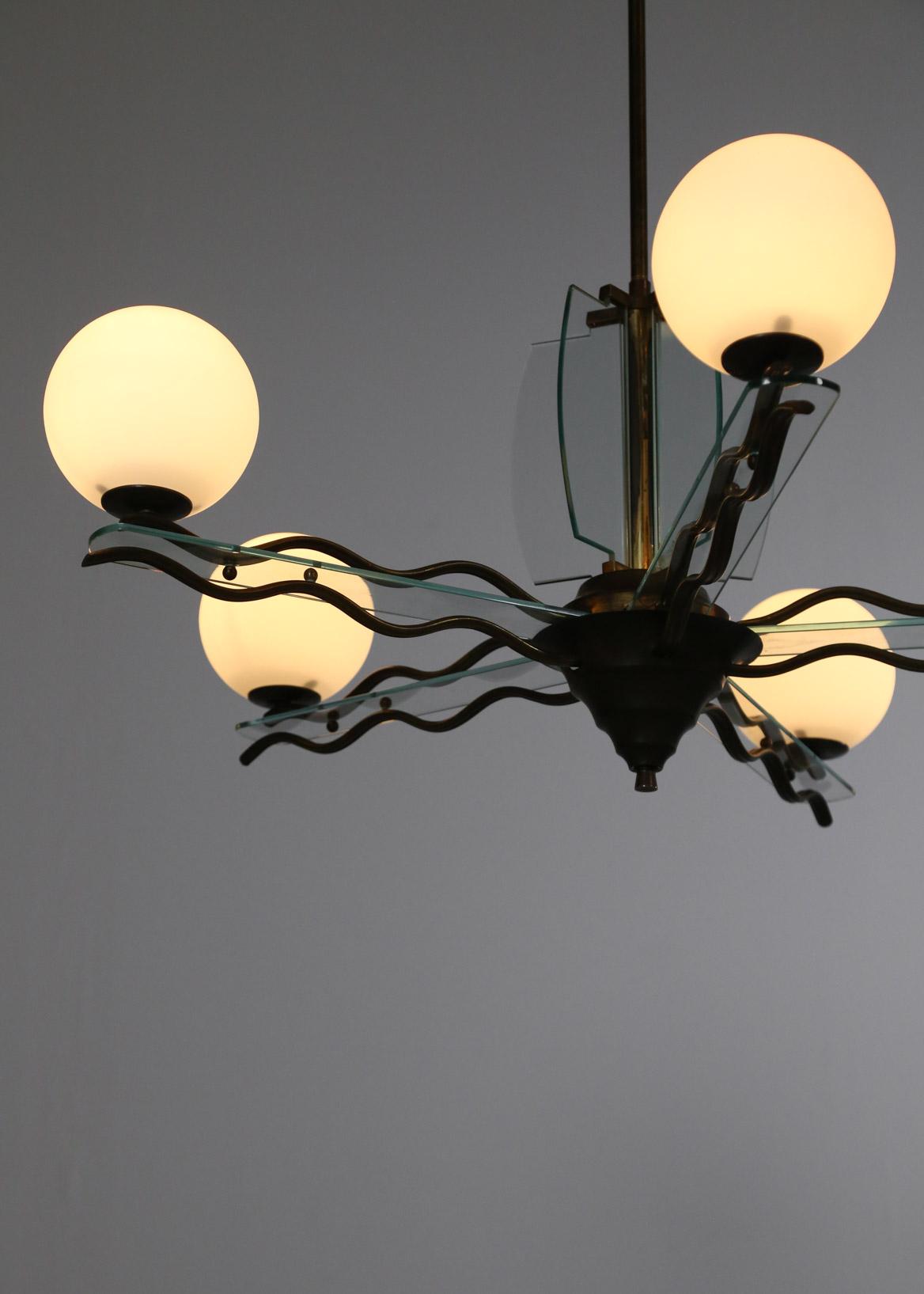 lustre italien fontana arte vintage design 30 danke galerie. Black Bedroom Furniture Sets. Home Design Ideas
