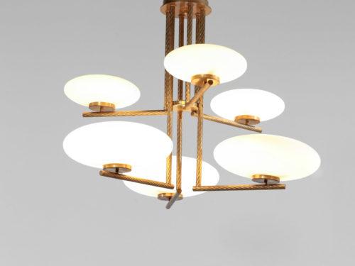 lustre moderne italien 6 opalines ovoide angelo lelli gino sarfatti stilnovo 39