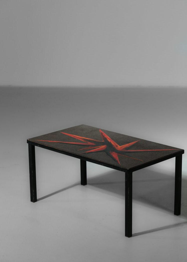 petite table basse pierre de lave emaillé jaffeux25