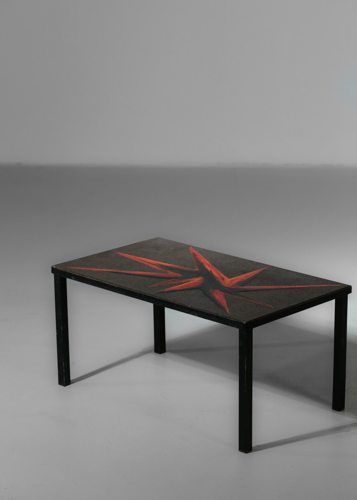 Small Side Table Enamelled Lava Stone Jaffeux Danke Galerie