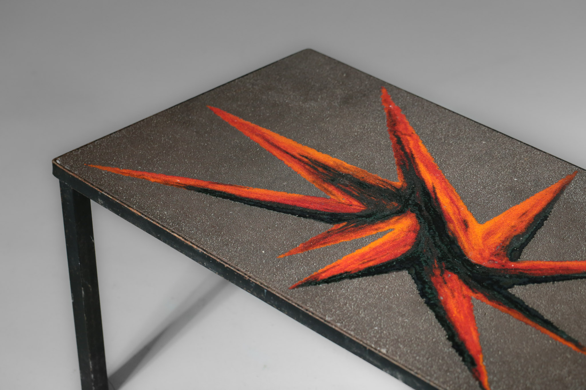 Small Side Table Enamelled Lava Stone Jaffeux Danke Galerie