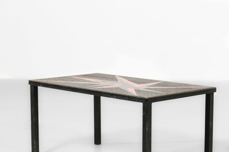 petite table basse pierre de lave emaillé jaffeux