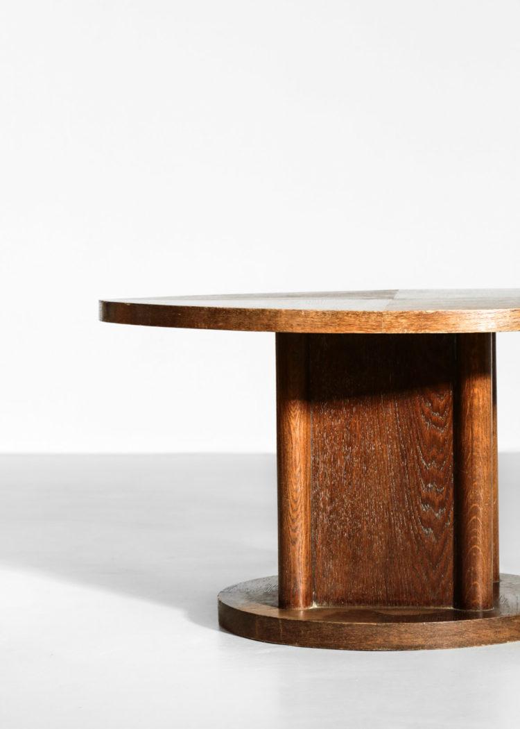 table basse des années 40 en chêne moderniste