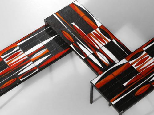 tables basse navette roger capron orange ceramique32