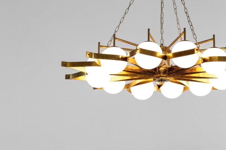 Lustre gio ponti design italien vintage opaline 53
