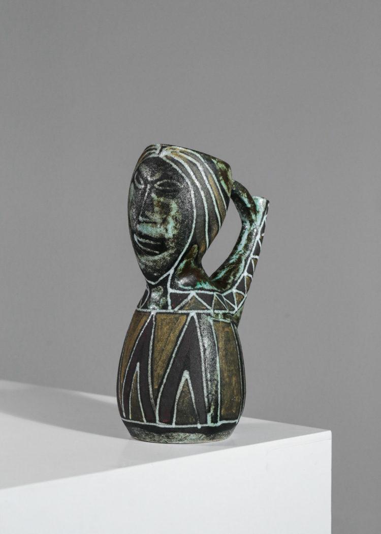 Pichet ceramique accolay vintage années 50