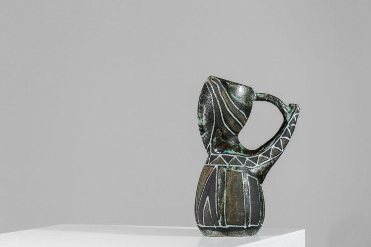 Pichet ceramique accolay vintage années 5028