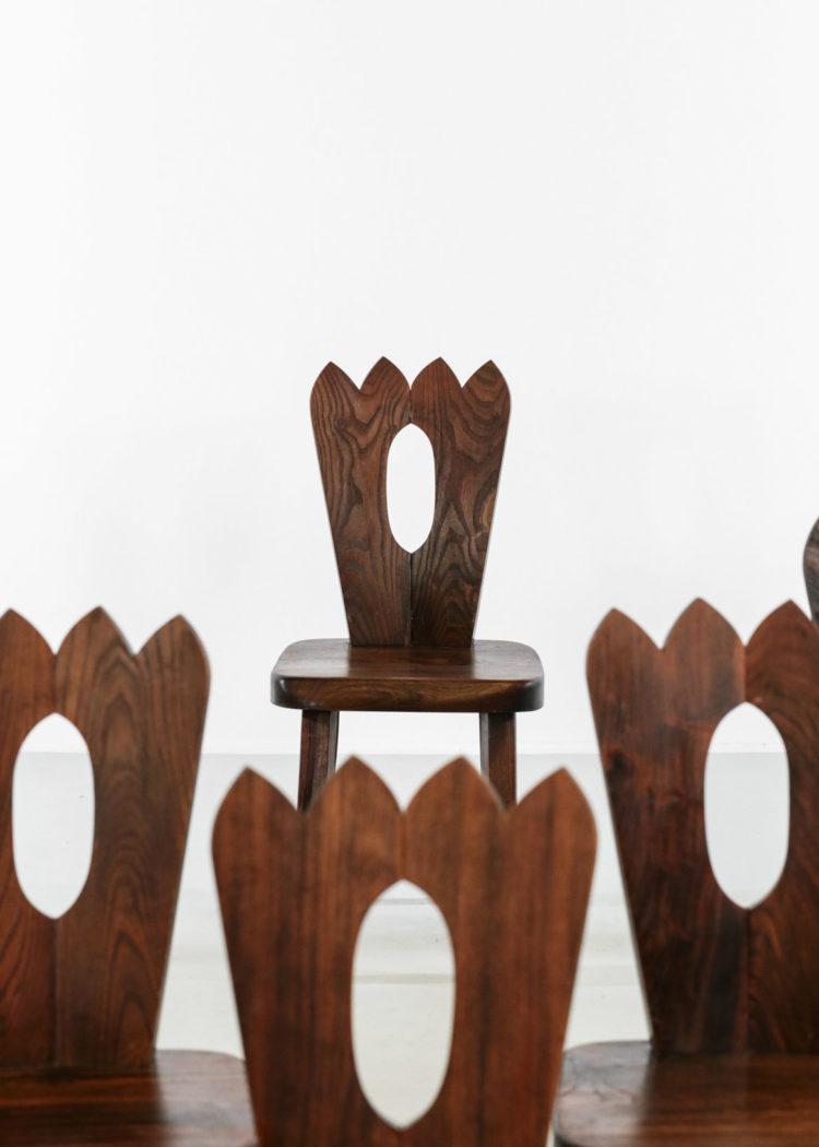 chaise en orme massif style olavi Hanninen