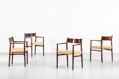 chaises fauteuils arne vodder sibast accoudoir danois scandinave