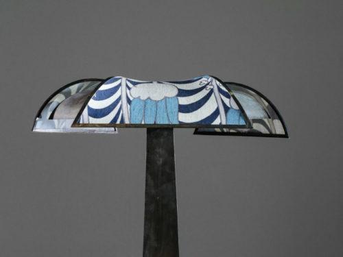 grande lampe de bureau palmier vintage art deco acier brossé