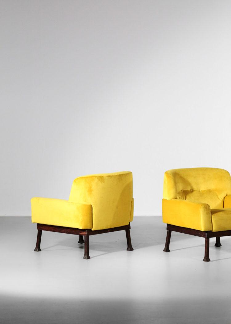 paire de fauteuil italien jaune hisa vintagne design39