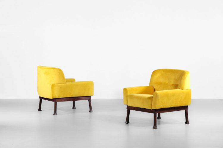 paire de fauteuil italien jaune hisa vintagne design30