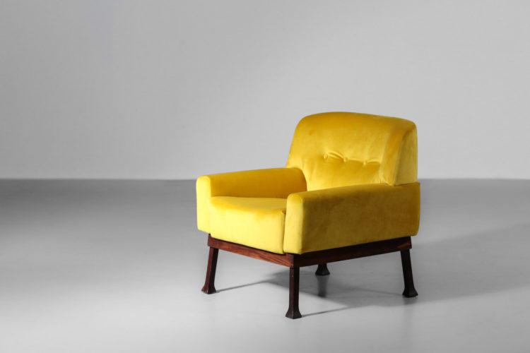 paire de fauteuil italien jaune hisa vintagne design