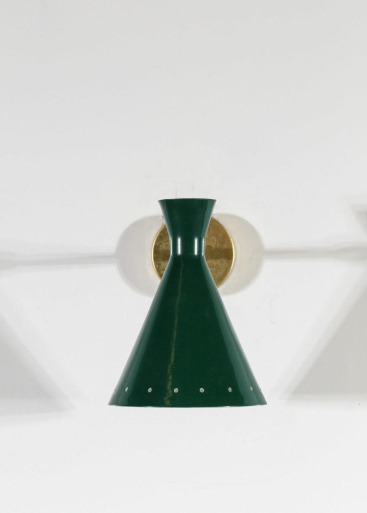 petite paire d'appliques italienne vintage cocotte verte