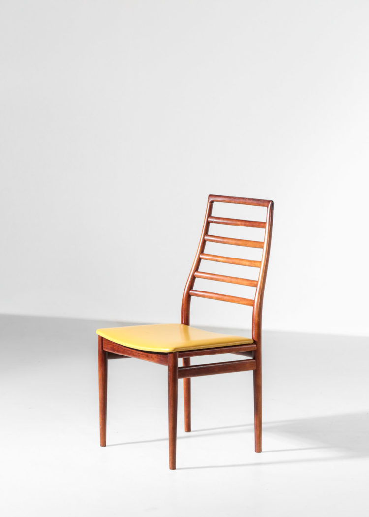 Suite de 6 chaises danoises scandinave en teck vintage design