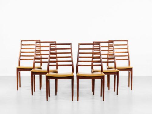 Suite de 6 chaises danoises scandinave en teck vintage design31