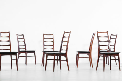 Suite de 8 chaises Koefoed Larsen danoise scandinave vintage palissandre22