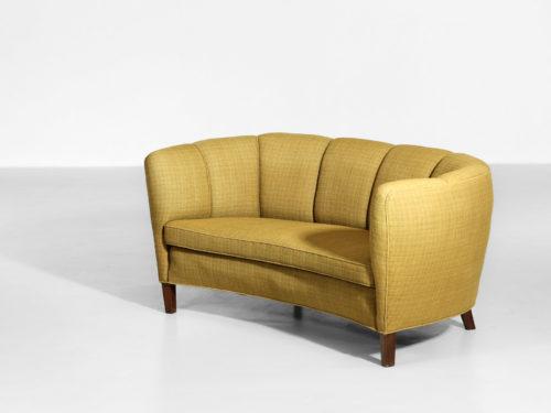 banana sofa banquette jaune années 60