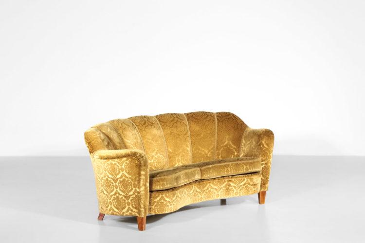 banana sofa des années 60 velour vintage design