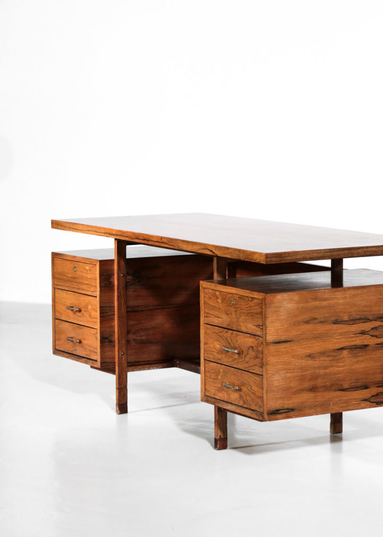 bureau des années 60 en palissandre de rio vintage 1