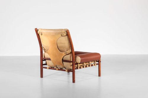 fauteuil safari arne norell années 60 cuir suedois7