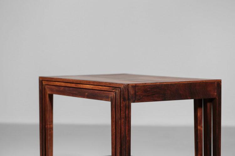 Tables Gigognes scandinave en palissandre de rio nordic design