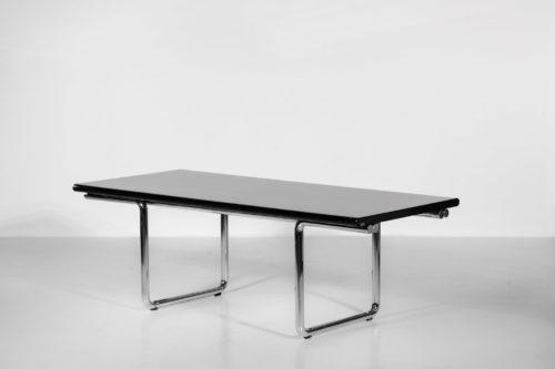 bureau italien ou table à manger castelli années 70 chrome5