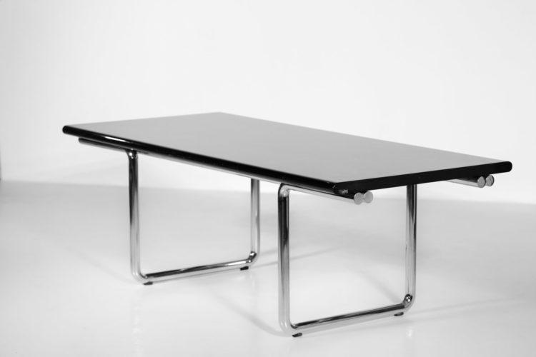 bureau italien ou table à manger castelli années 70 chrome
