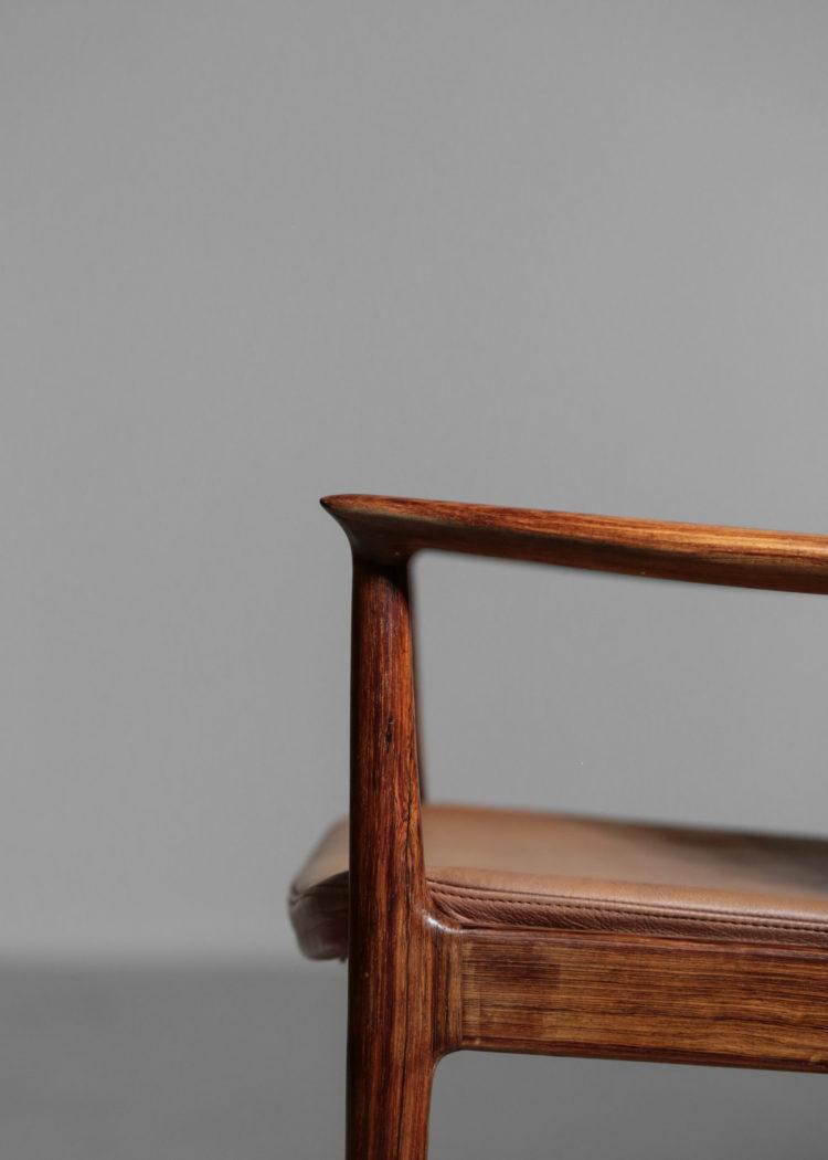 fauteuil kai lyngfeldt larsen chaise danoise scandinave des années 60 cuir