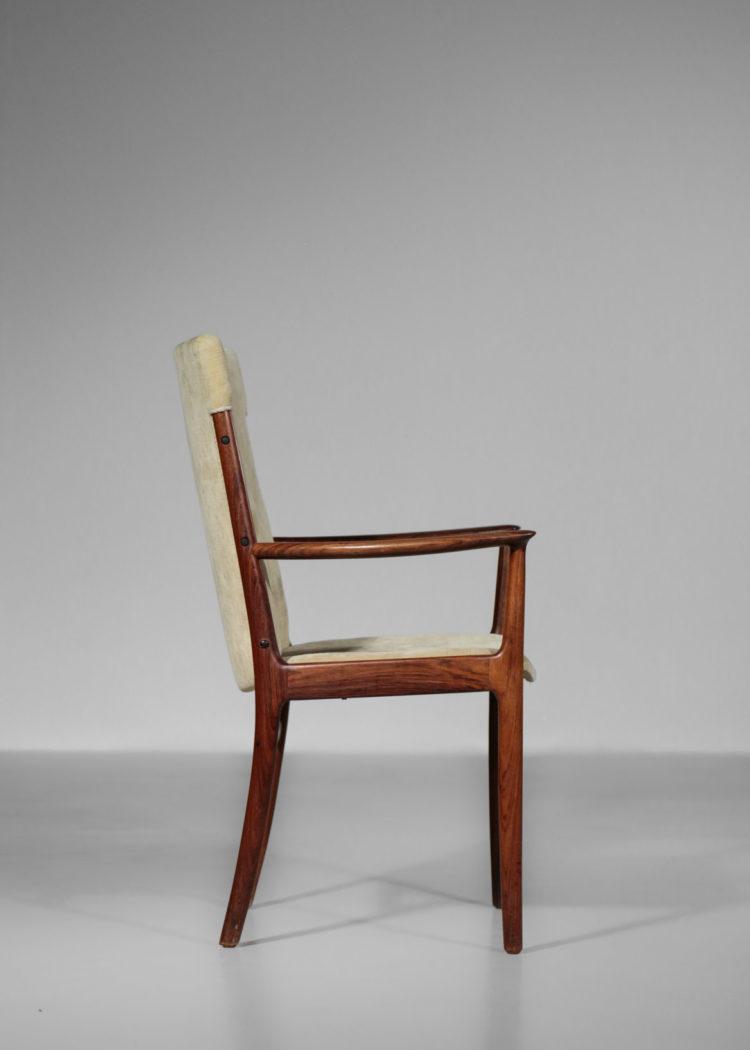 fauteuil kai lyngfeldt larsen chaise danoise scandinave des années 60 tissus blanc