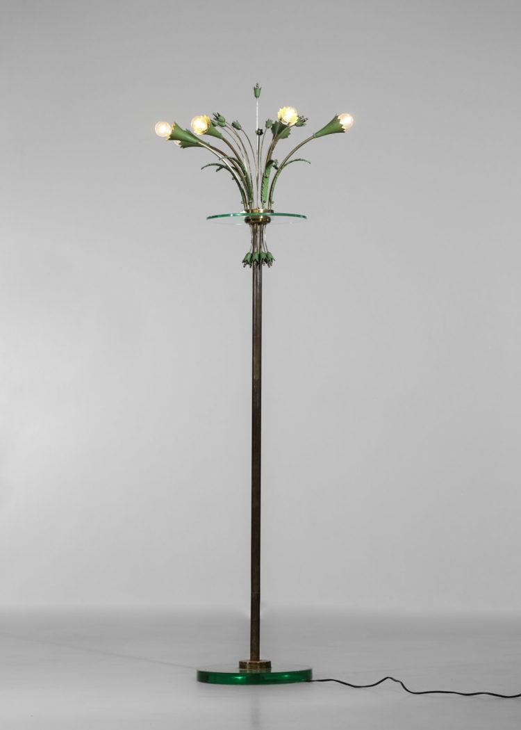 lampadaire italien des années 60 verre laiton gio ponti 2