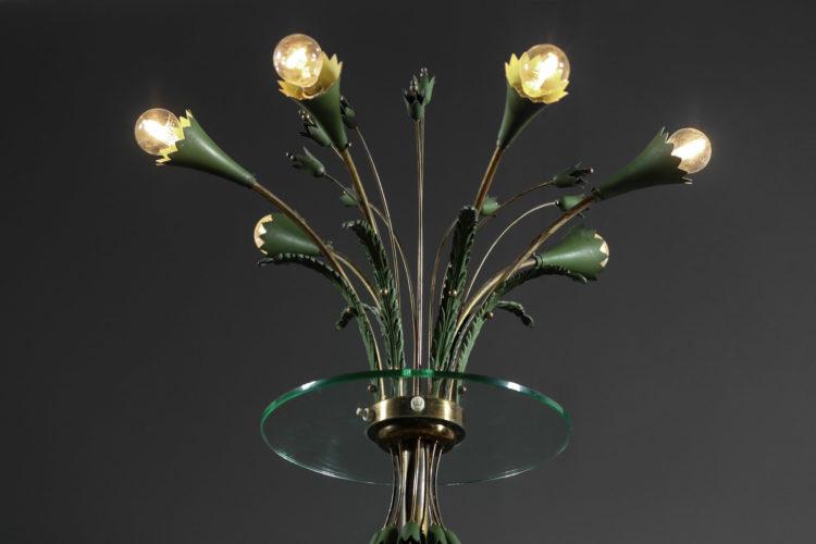 lampadaire italien des années 60 verre laiton gio ponti 16