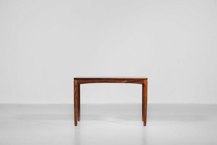 petite table basse danoise scandinave années 60 edmund jorgensen palissandre