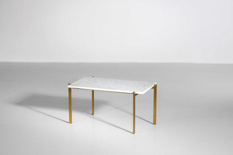 table basse style poul kjaerholm laiton marbre de carrare